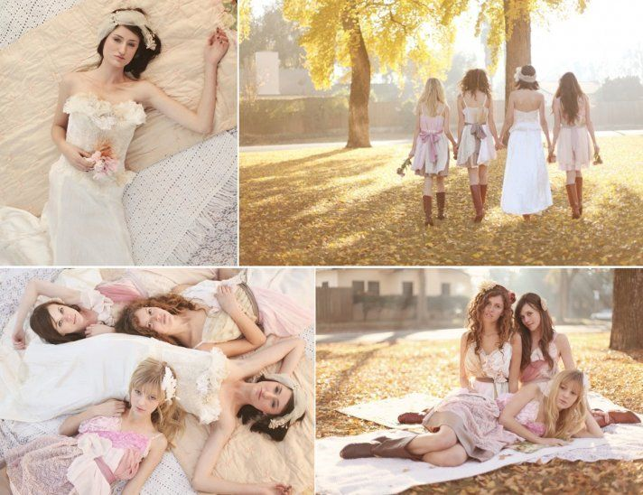 Country Western Wedding Ideas | Country western chic wedding and bridesmaids' dresses by Armour sans ...