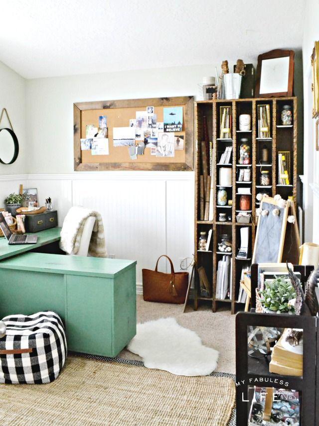Farmhouse Style Home Office MyFabulessLife