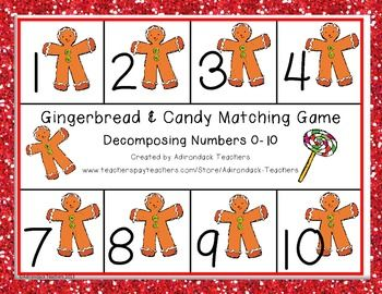 FREEBIE!!!  Happy Holiday everyone! CCSS.Math.Content.K.NBT.A.1 Compose and decompose numbers from 0 to 10 into ten and ones Any of the pages can be used as game boards. You can decide if you want your students to play a game board in sequential order or in a mixed up order to differentiate instruction.  Our RtI kids really need this kind of simple fun game activity to understand the concept.