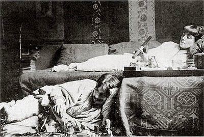 France. Opium Smokers, Montmartre, Paris circa 1910