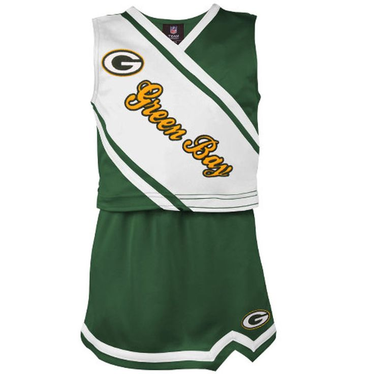 Green Bay Packers Girls Toddler 2-Piece Cheerleader Set - Green