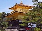 Kinkakuji - Kyoto,Japan Temple building covered in gold.