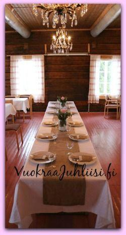 Fiiliksiä www.vuokraajuhliisi.fi - tuotteista. Juuttia ja rustikkia :) Kuvan lisäsi www.haakauppa.fi