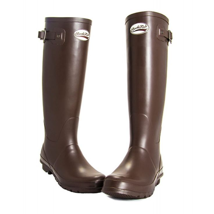 Rockfish Original Tall Matt Dark Chocolate Wellies