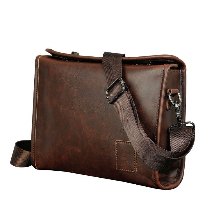school satchels bag crossbody for boys leather handbags man high quality briefcase Vintage messenger bags