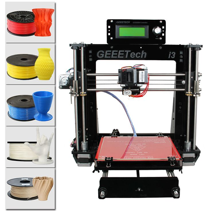 Geeetech Acrylic I3 Pro B DIY 3D Printer - Supports 5 Filaments, Large Printing Volume, High Precision - Geeetech Acrylic I3 Pro B DIY 3D Printer features a high printing precision and lets you create large objects out of a wide-range of filaments.
