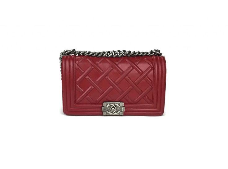 Chanel Diamond Embossed Celtic Medium Le Boy Bag