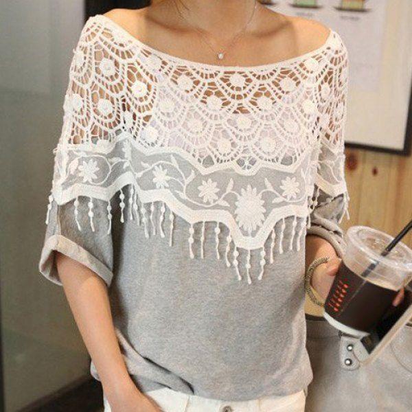 Fringe Lace T-Shirt