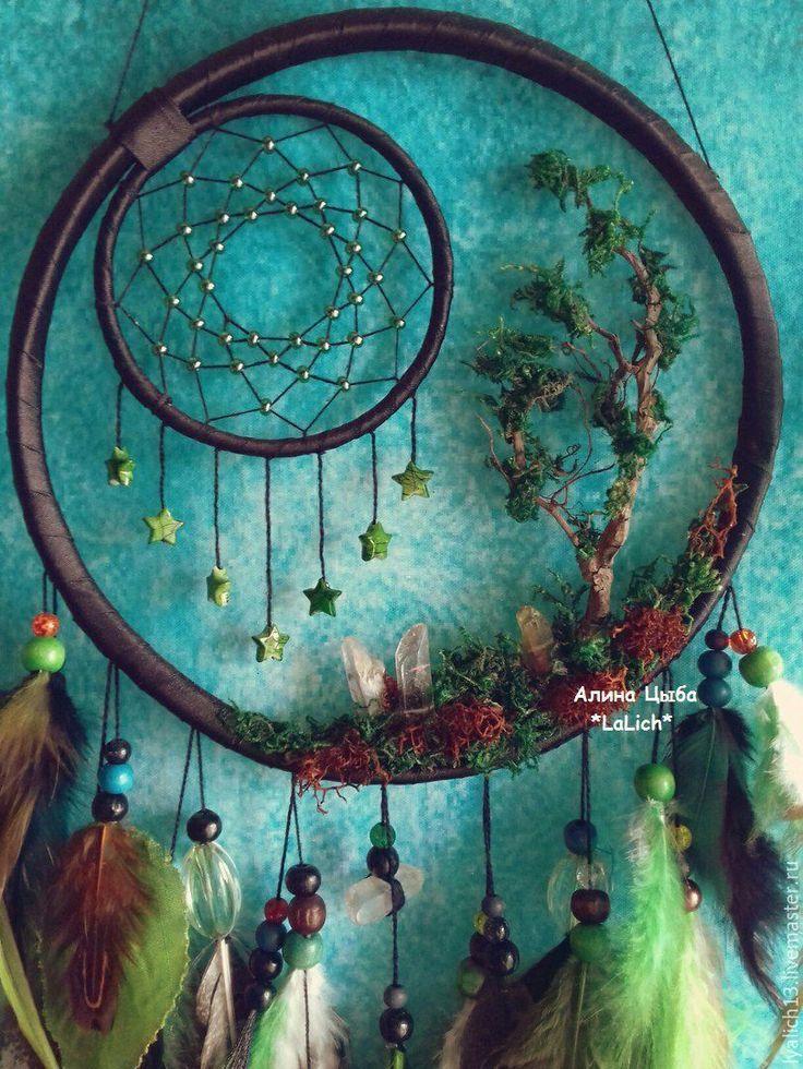 """super Kaufen Sie Traumfänger """"Die Geschichte des Waldes"""" – dunkelgrün, ein wunderschöner Traumfänger, ein wunderschöner ukrainischer"""