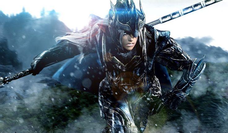 Zdjęcie: Valorous Elven Spear Woman by lordhayabusa357 #skyrim