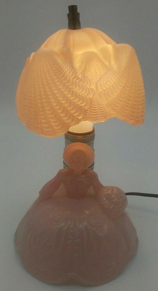 Pink Satin Gl Southern Belle Victorian Lady Boudoir Lamp Parasol Shade Works Ebayreer Ebayer Foronebay Recentlylistedonebay