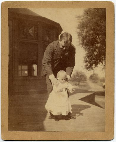 Robert Todd Lincoln with son Jack Lincoln