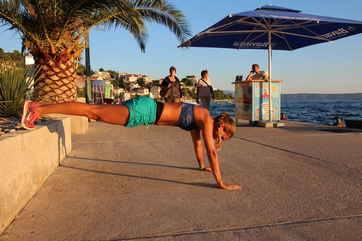 Pushup'frontsupport'seaside'training'trainer