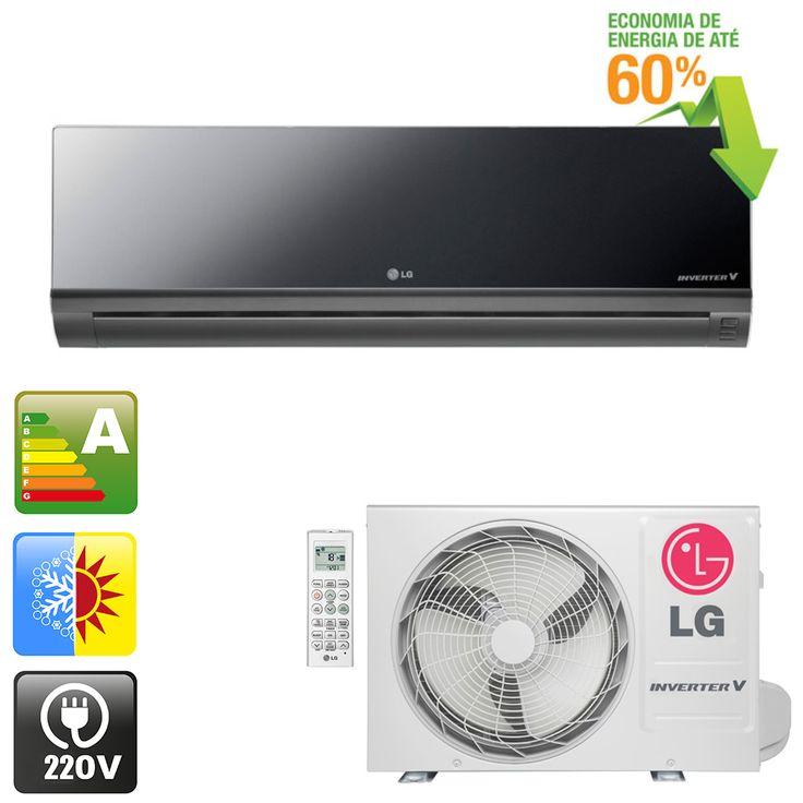[ClimaRio] Ar Condicionado Invert. Quente/Frio LG Art Cool 9.000 BTU R$ 1.689,90 no boleto