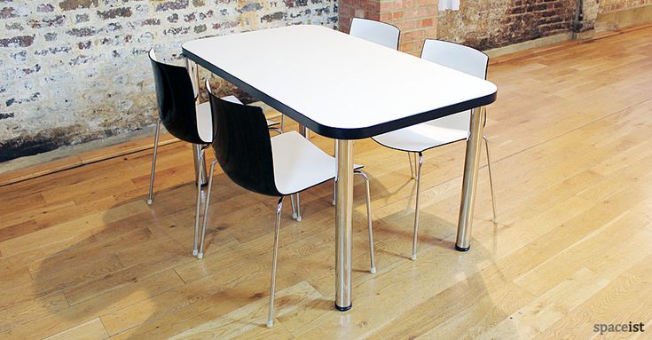 Edge black designer cafe table / ORDER NOW FROM SPACEIST
