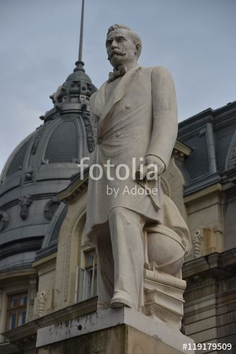 "Download the royalty-free photo ""Statue of Spiru Haret, Bucharest, Romania""…"