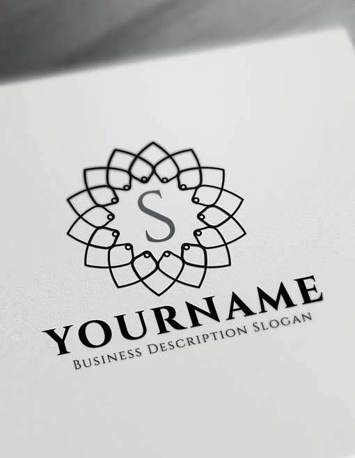 free floral geometric logo creator letter logo maker best wedding logo design ideas monogram logos logos logo design monogram logo