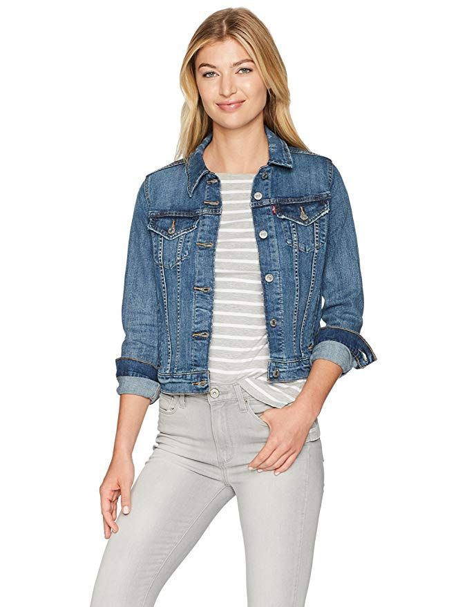Levi Jean Jacket Women Original Trucker Denim Jean Jacket