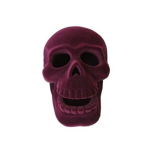Halloween Small Resin Skull Purple - Hyde and Eek! Boutique