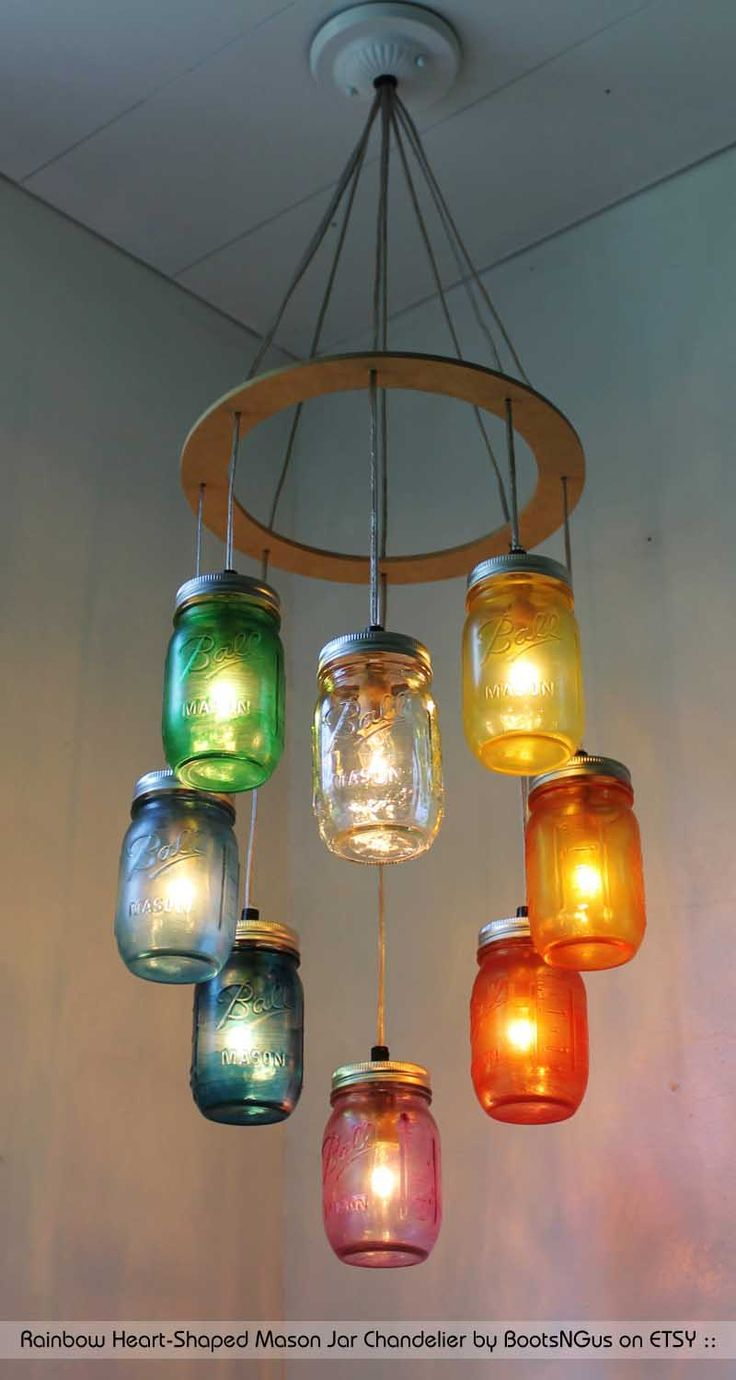 Cool Modern Living Room with Etsy Chandelier Design: Etsy Chandelier  | Edison Bulb Pendants | Wine Bottle Chandelier