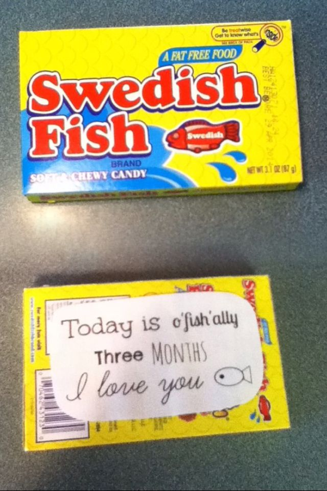 Swedish Fish With A Cheesy Saying That I Gave To My