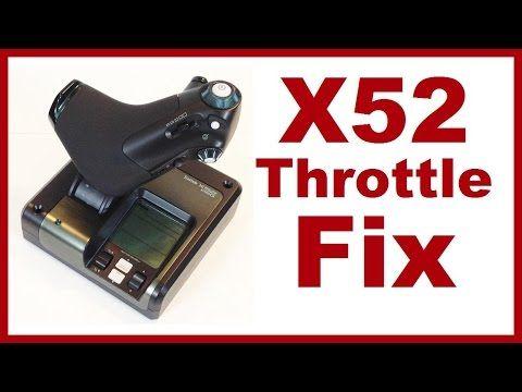 Saitek X52 Throttle Fix - YouTube