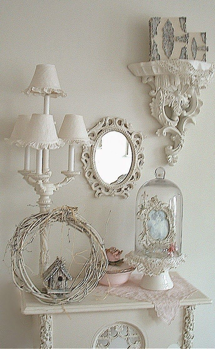 Romantique Inspirations shabby chic white with a hint of pink vignette – sandra sowieso