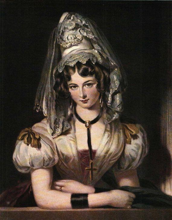 Art Print portrait of beautiful lady, details unknown Studio Magazine 6x8 inches- 0020