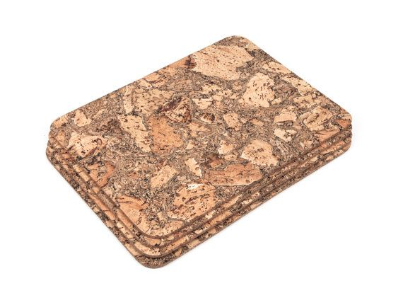 Rectangular cork placemats table mats dining iceberg for Small square placemats