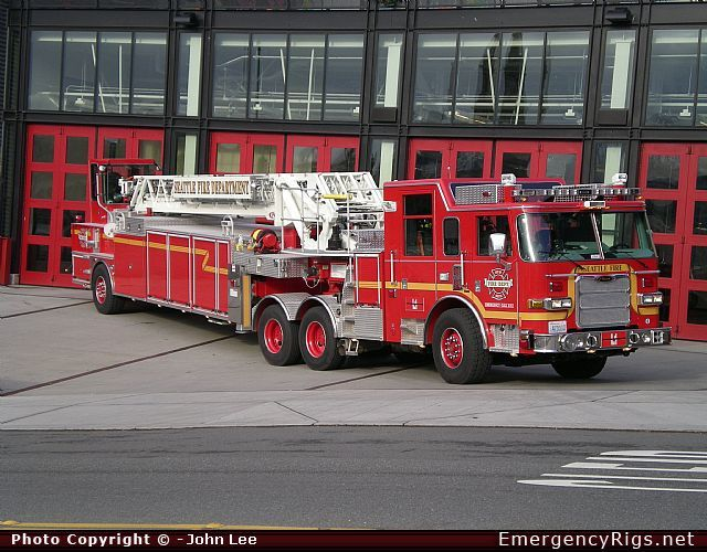 Seattle Fire Department Apparatus | ... Aerial Seattle Fire Department Emergency Apparatus Fire Truck Photo