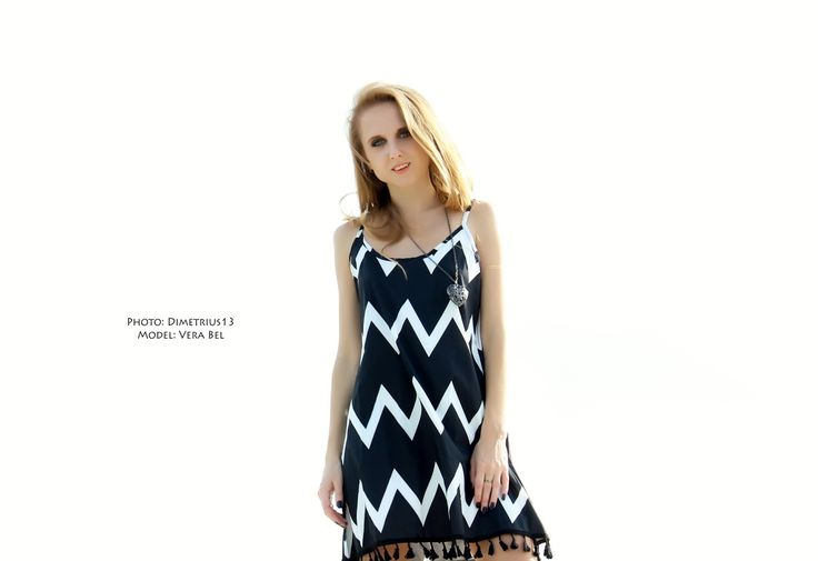 Летний сарафан Casual Sleeveless Stripe Zig Zag Spaghetti Strap Tassel Dress из интернет-магазина Newchic. Обзор / Отзыв / Review