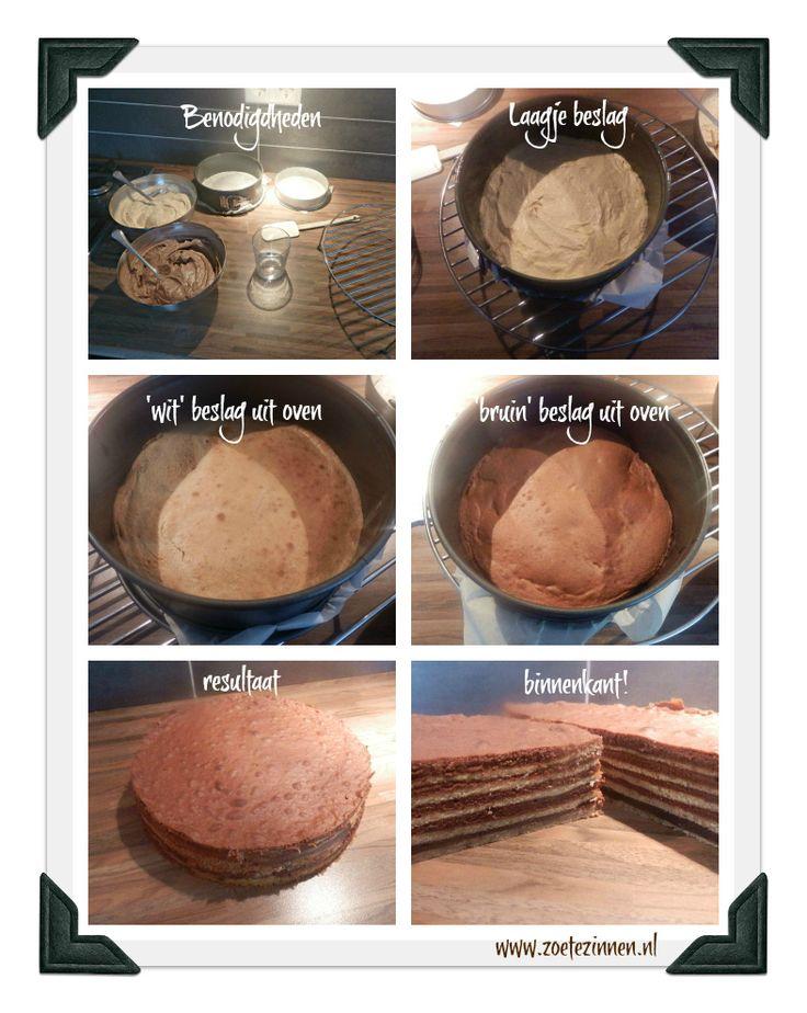 Recept voor spekkoek, de chocolade variant. Met uitleg hoe je het maakt.