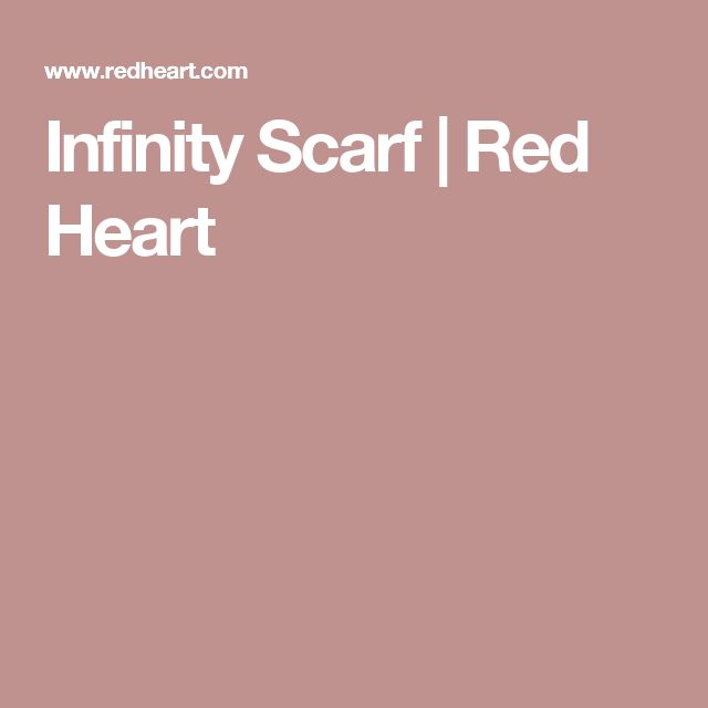 Infinity Scarf | Red Heart
