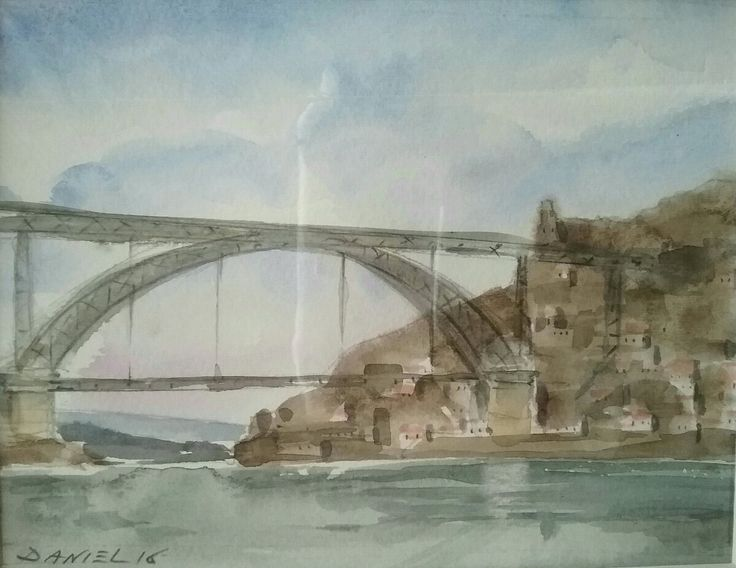 Porto - watercolour - Daniel