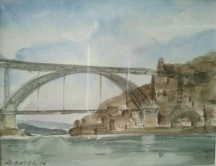 Porto - watercolour - Daniel