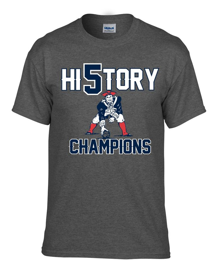 New England Patriots Champions History Tee Sizes Sm-3x Navy