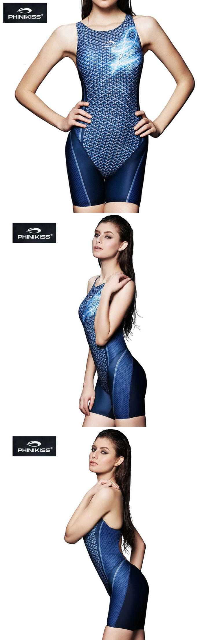 PHINIKISS Large Size Swimwear Swimming Suit For Women Swimsuits one-piece Triathlon Swimsuit Professional Competition Bathing