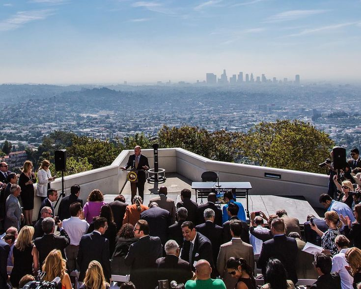 California is turning to solar power and innovative ways of using energy to fight the droughts floods and fires which climate change worsens. The state's governor Jerry Brown is seen here signing SB 350 the climate and clean energy bill in 2015.  The state is the worlds sixth-largest economy with a gross domestic product of $2.6tn placing it above France and India. Its population of about 39m on a par with that of Poland makes it by far the biggest US state.  Its energy use is similarly…