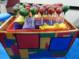 Lego Cake Pop Stand
