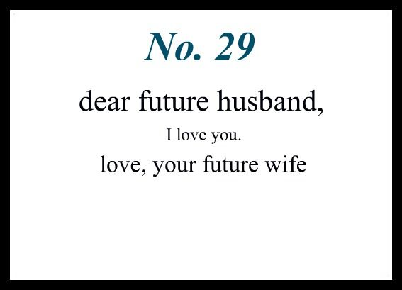 Prayers and notes to my future husband