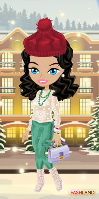 Aspen lures you into a Vacation... #fashland #fashion #passionforfashion #trees #country #house ##beret #hat #green #blueeyes #cold #winter #wavyhair #beauty #beautiful #dressup #gamegos #onlinegames #gaming