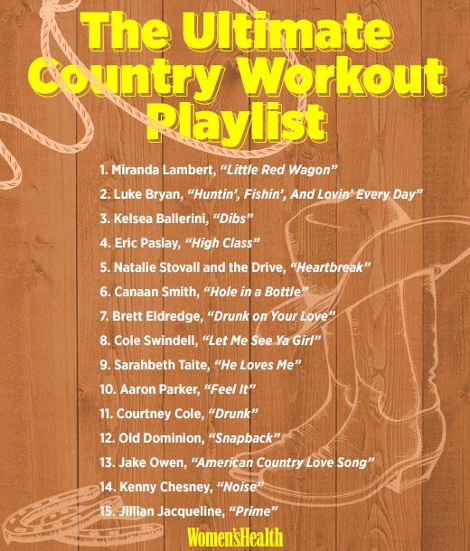 The Ultimate Country Workout Playlist  http://www.womenshealthmag.com/fitness/country-work-out-music