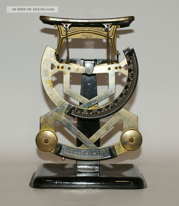Alte Bilateral Scheren Skala Briefwaage Antike Bürotechnik Bild