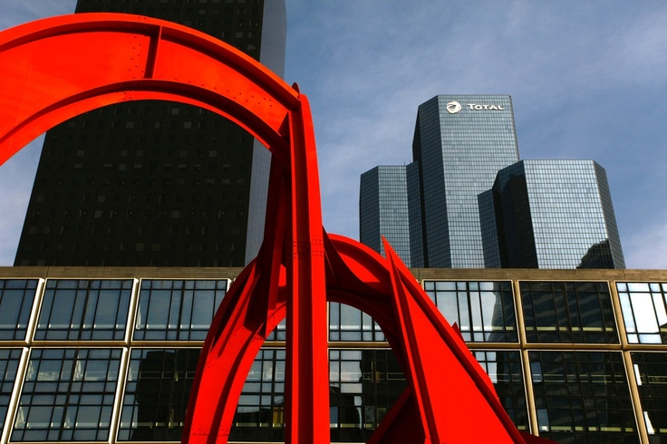 """""""THE RED SPIDER""""  """"The Red Spider"""" is a monumental sculpture (15m tall) by American artist Alexander Calder. It is located on the esplabnade of la Défense."""