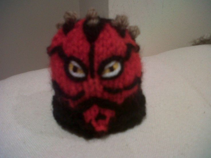 Darth Maul little hat for the Innocent Smoothie Big Knit for Age UK