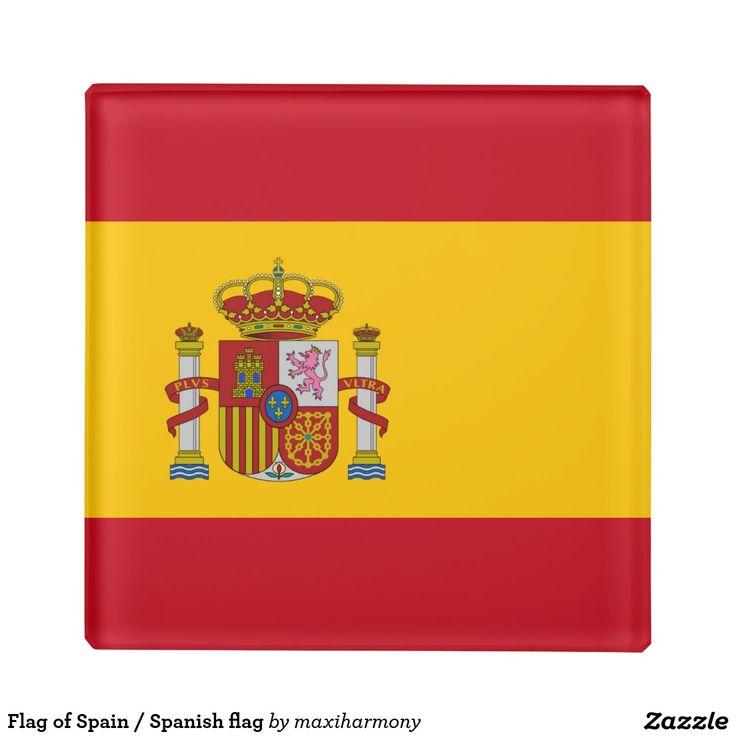 Flag of Spain / Spanish flag Glass Coaster