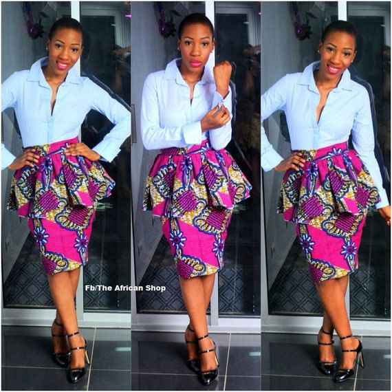 NEW Peplum Skirts by THEAFRICANSHOP on Etsy, £25.00