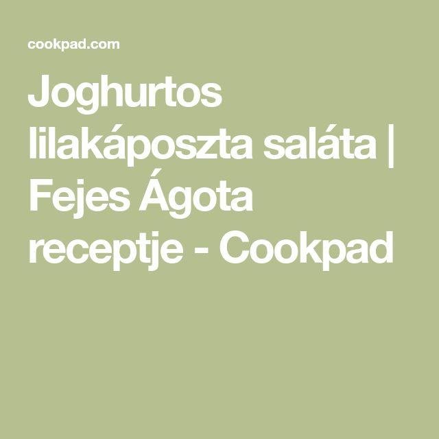 Joghurtos lilakáposzta saláta | Fejes Ágota receptje - Cookpad