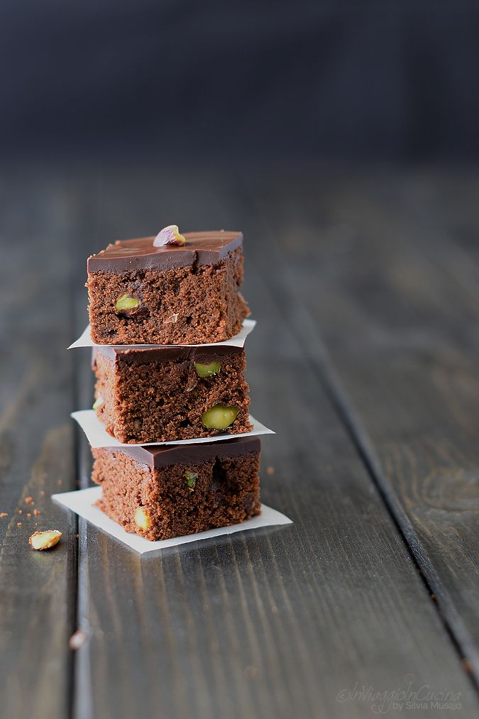 Brownies ai pistacchi