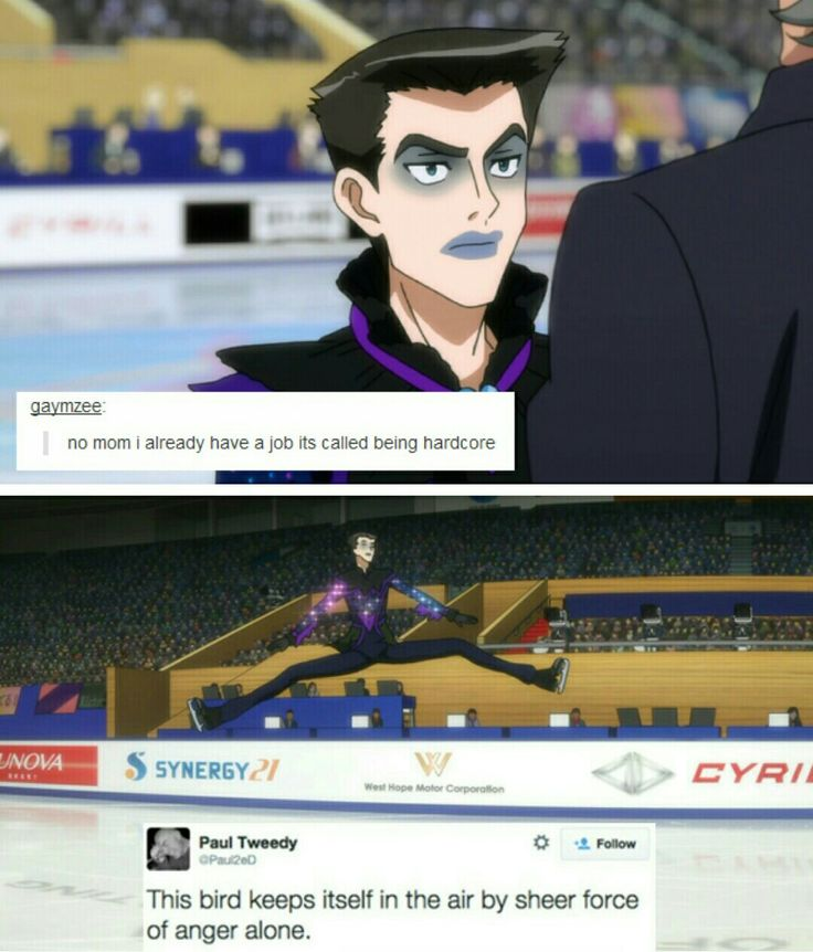 This guy cracks me up Everytime XD #Yurionice >>> I'm sorry but that outfit was aWFUL